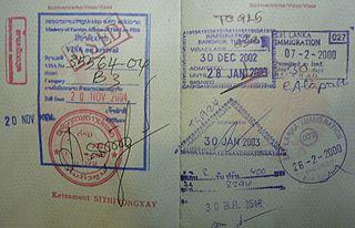 passport visa pages
